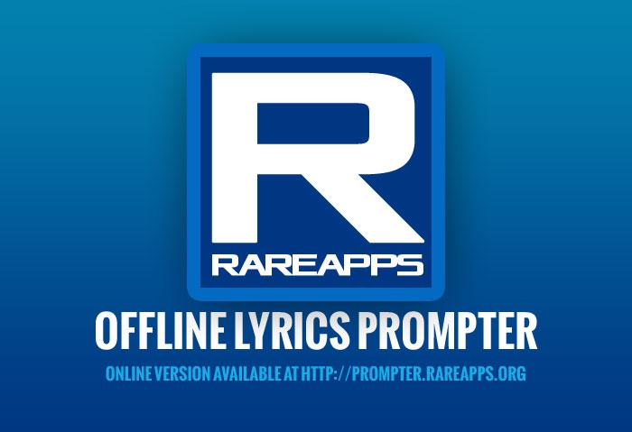 Splash screen of RareApps Prompter Offline Edition